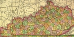 Kentucky Map shows areas covered by Taylor Court Reporters Kentucky