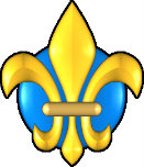 Yellow and blue fleur de lis