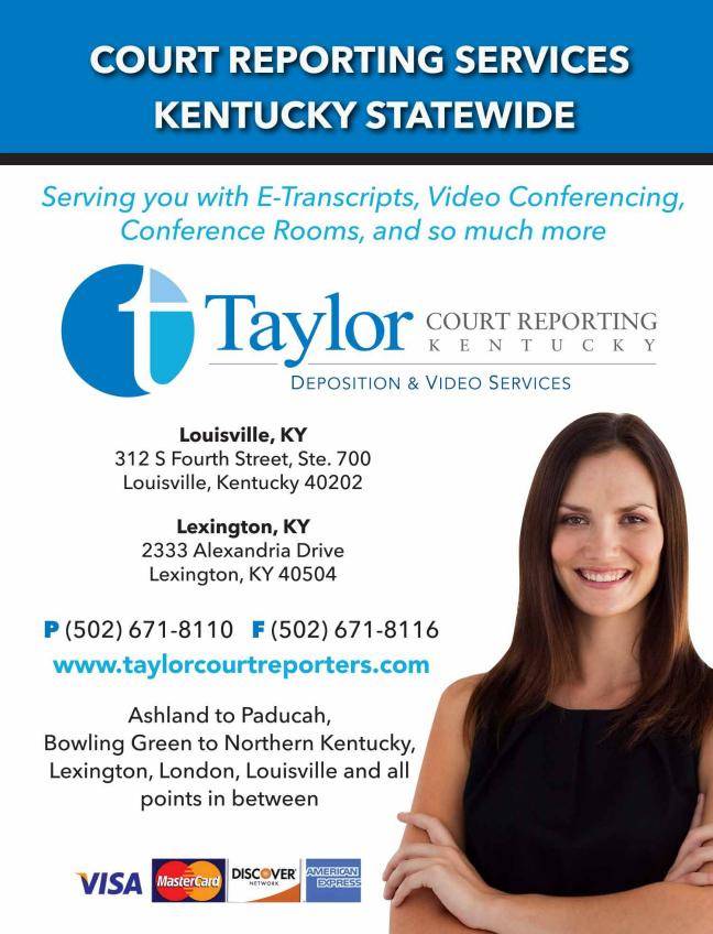 Taylor Court Reporters Louisville Kentucky