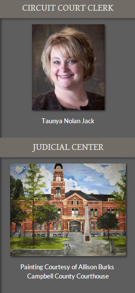 Taunya Nolan Jack, Circuit Court Clerk and Painting Courtesy of Allison Burks Campbell County Courthouse