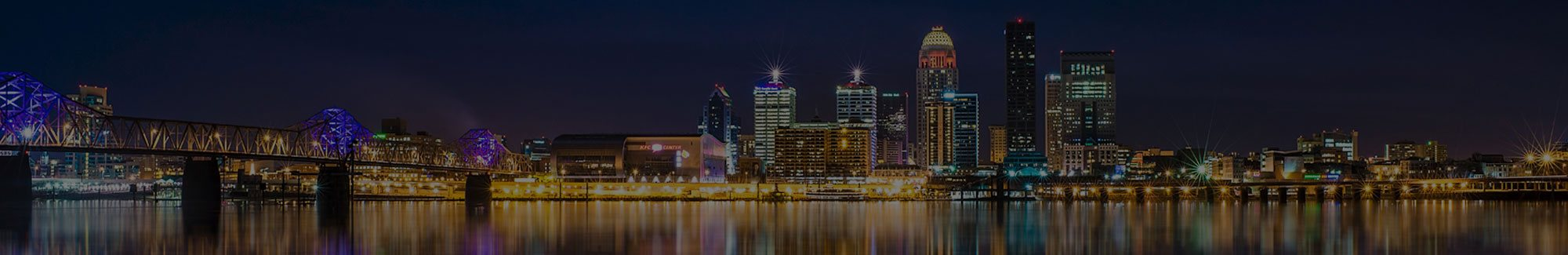 Louisville KY skyline at night