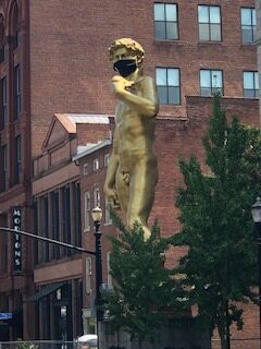Masks are worn by Taylor Louisville KY Court Reporters and The David to prevent the spread of COVID-19. Now scheduling in-person depositions.